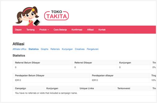 Afiliasi Toko Takita